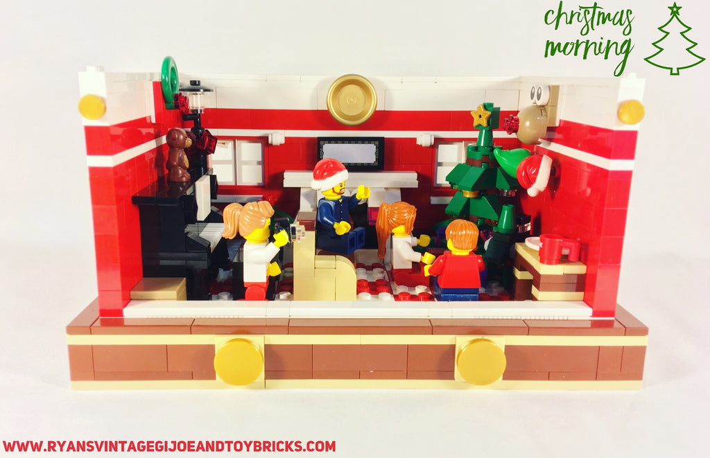 "Custom Lego ® ""Christmas Morning"" Holiday MOC Set"