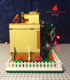 LEGO CUSTOM -- HALLOWEEN TRICK OR TREAT HOUSE MOC WITH MINIFIGURES