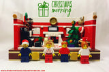 LEGO CUSTOM -- CHRISTMAS MORNING HOLIDAY MOC DECORATION SET AUTHENTIC PIECES