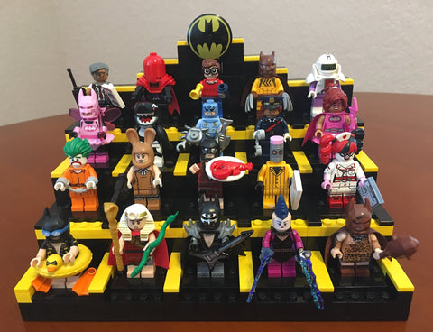 LEGO : MADE TO ORDER -- CUSTOM BUILT 16/18/20 MINIFIGURE DISPLAY STAND ONLY 100% AUTHENTIC