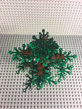 LEGO CITY -- CUSTOM FOREST TREE WITH 16 LARGE GREEN LEAVES : NEW PIECES / PARTS