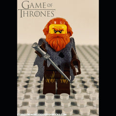 LEGO GAME OF THRONES -- CUSTOM TORMUND GIANTSBANE MINIFIGURE 100% AUTHENTIC