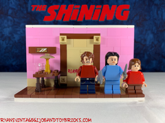 LEGO CUSTOM -- THE SHINING : HERE'S JOHNNY : BATHROOM SCENE REDRUM MOC SET