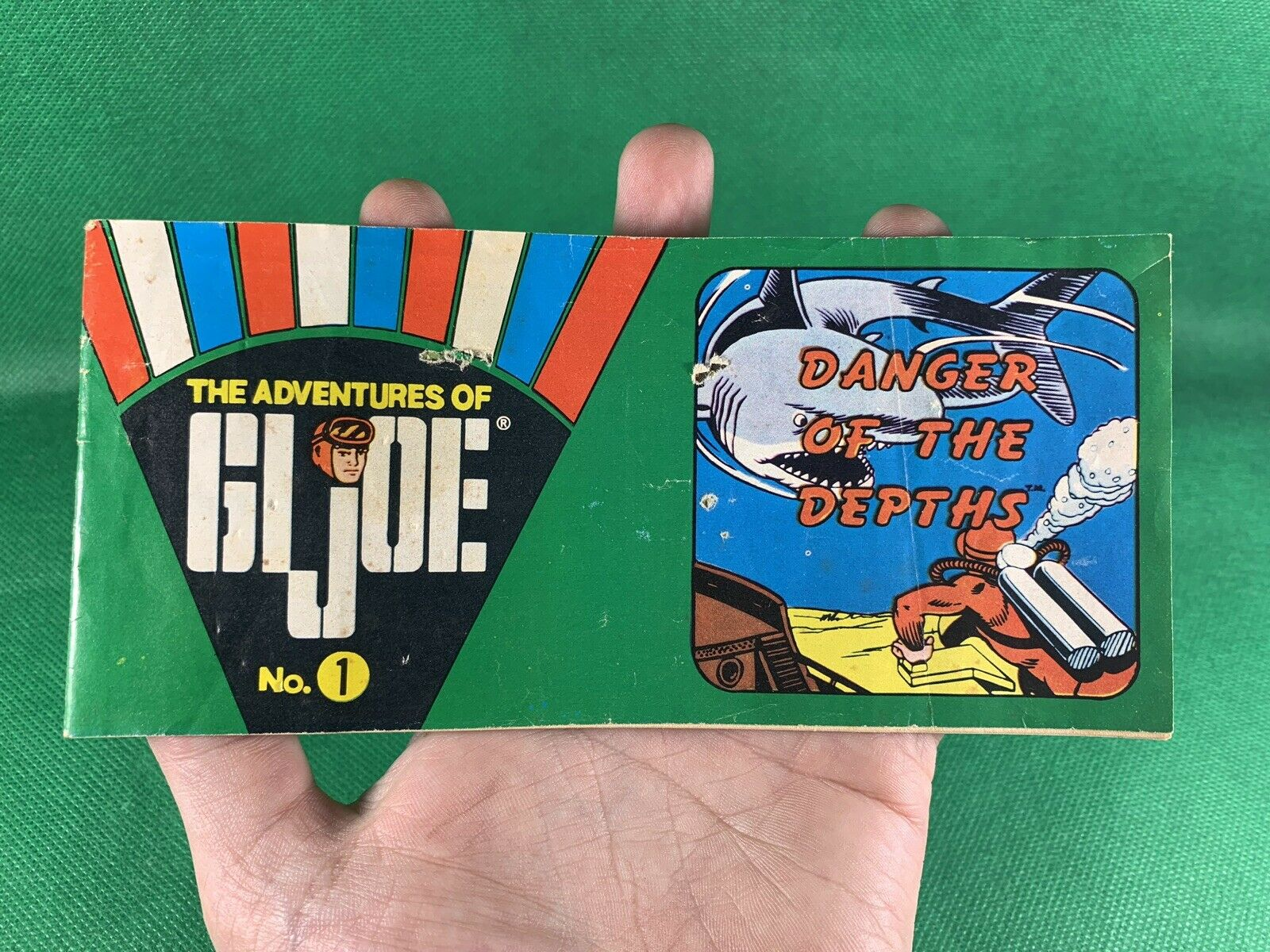 VINTAGE 1964 GI JOE -- 1970 DANGER OF THE DEPTHS MINI COMIC BOOK