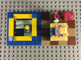 LEGO CUSTOM -- SERIES 16 BABYSITTER MINIFIGURE WITH NURSERY DISPLAY MOC
