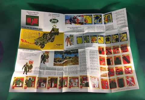 VINTAGE 1964 GI JOE -- OFFICIAL GEAR AND EQUIPMENT MANUAL / BROCHURE / POSTER