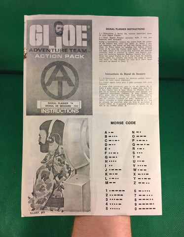 VINTAGE 1964 GI JOE -- ADVENTURE TEAM SIGNAL FLASHER INSTRUCTIONS CANADA VERSION