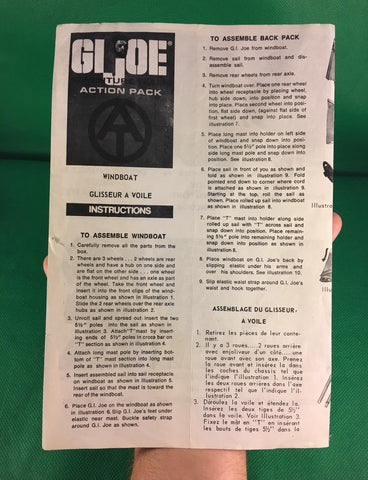 VINTAGE 1964 GI JOE -- ADVENTURE TEAM WINDBOAT INSTRUCTIONS CANADA VERSION