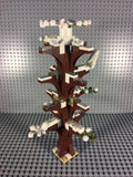 LEGO CITY -- CUSTOM WINTER FOREST TREE WITH SNOWY OWL & 8 LEAVES : NEW PIECES PARTS