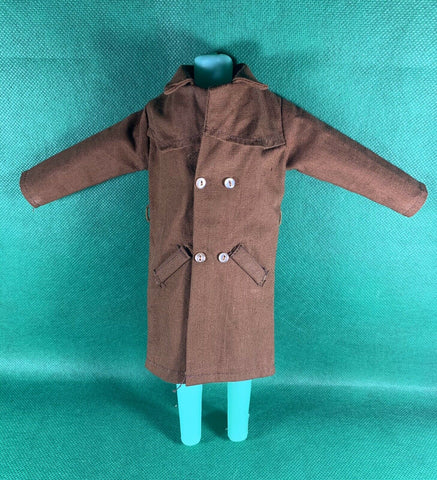 VINTAGE 1964 GI JOE -- ADVENTURE TEAM : UNDERCOVER AGENT : BROWN TRENCH COAT