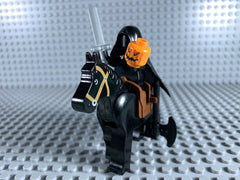 LEGO HALLOWEEN -- HEADLESS HORSEMAN CUSTOM MINIFIGURE 100% AUTHENTIC PIECES