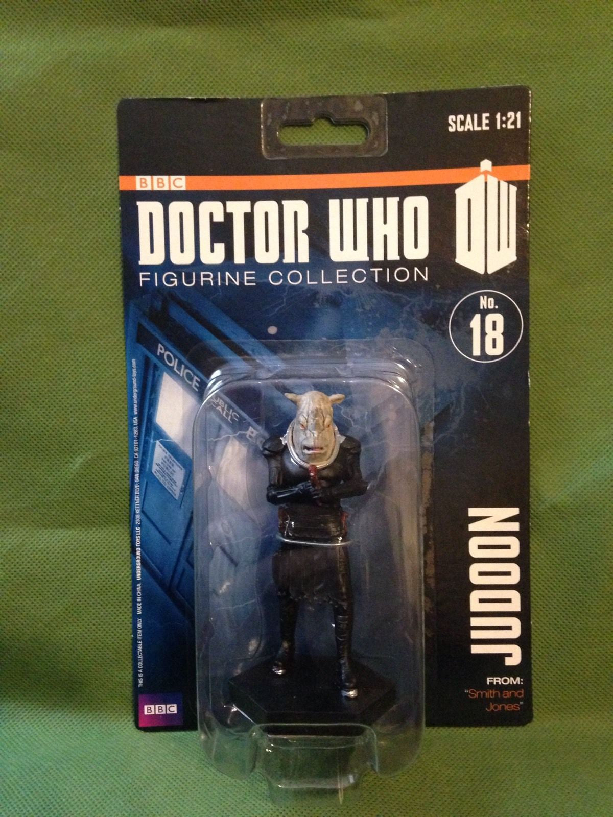 "DOCTOR WHO -- JUDOON NO. 18 ACTION FIGURE FROM ""SMITH AND JONES"" BRAND NEW MIB"