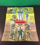 VINTAGE 1964 GI JOE -- ACTION SOLDIER / MARINE / PILOT / SAILOR BROCHURE POSTER