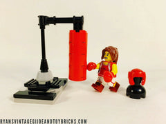 LEGO CITY -- CUSTOM SERIES 16 KICK BOXER MINIFIGURE ATHLETE WITH PUNCHING BAG MOC