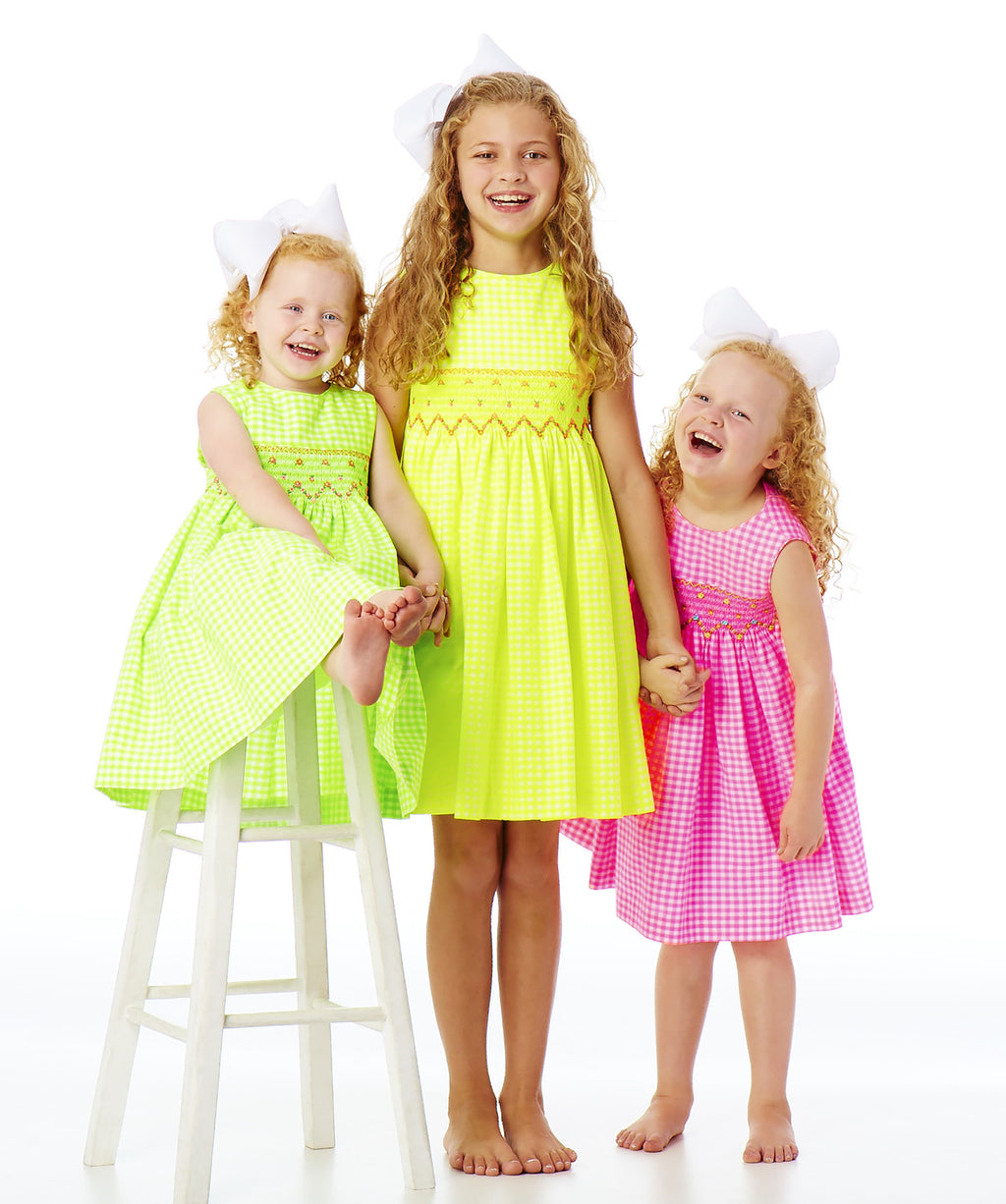 The Neon Smocked Party Dress