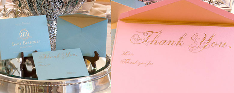 Gold Engraved Thank You Notes