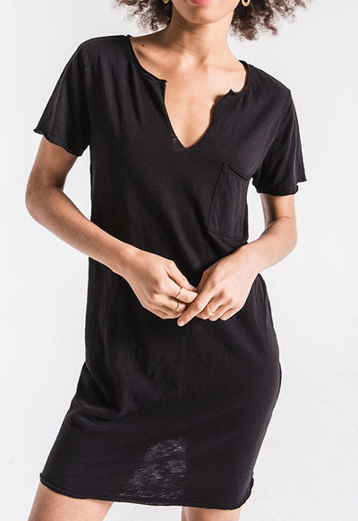 Z Supply - The Paige Black T Shirt Dress