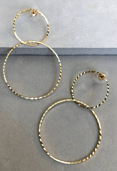 PRETTY SIMPLE INTERLOCKGLDCIRLCE INTERLOCKING GLD CIRCLE EARRIN - INTERLOCKGLDCIRLCE-PRETTY SIMPLE