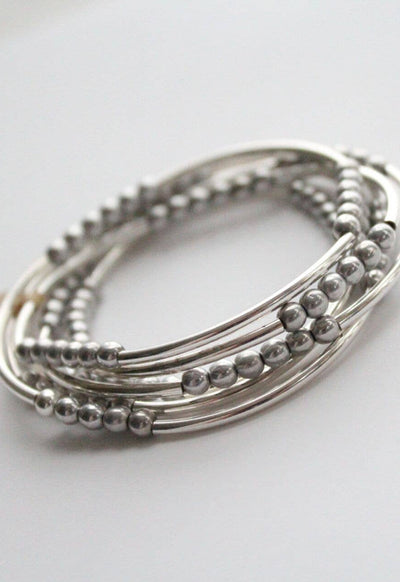 Whisper - Antique Silver Wrap Bracelet