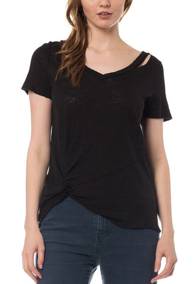 Kixters - Black Side Knot Top