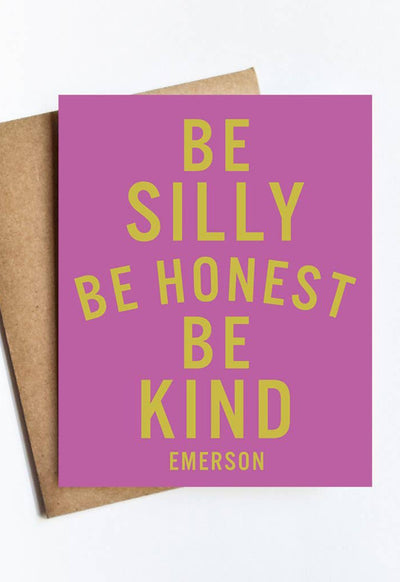 LIVE LOVE STUDI SILLY-HONEST-KIND SILLY HONEST KIND CARD - SILLY-HONEST-KIND-LIVE LOVE STUDI