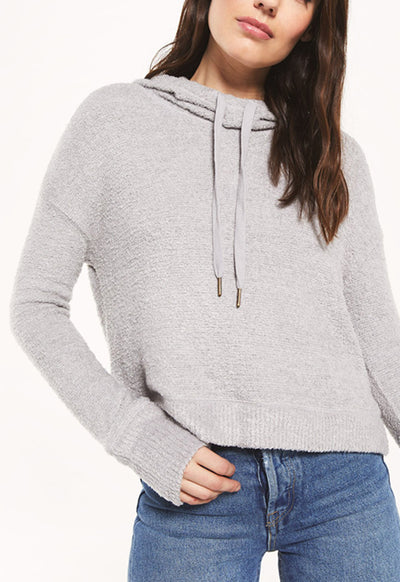 Z Supply - Kacey Feather Hoodie Heather Grey