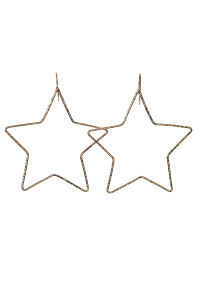 Star Hoop Earrings - 14K Gold Fill