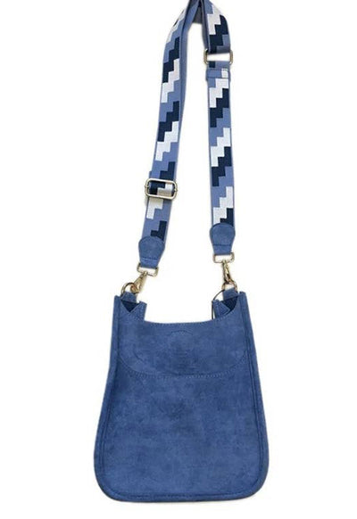 Ah-Dorned - Light Blue Suede Mini Messenger Shoulder Bag