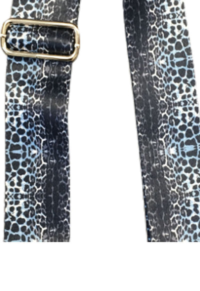 Ahdorned - Vertical Cheetah Strap Navy