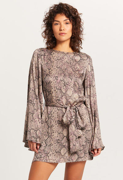 Taupe Blush Snake Dress