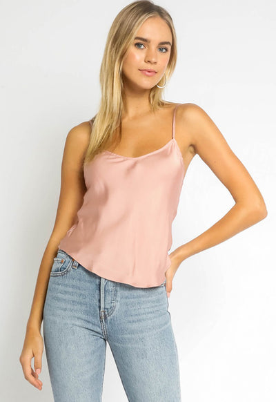 Kixters - Adjustable Thin Strap Top Blush