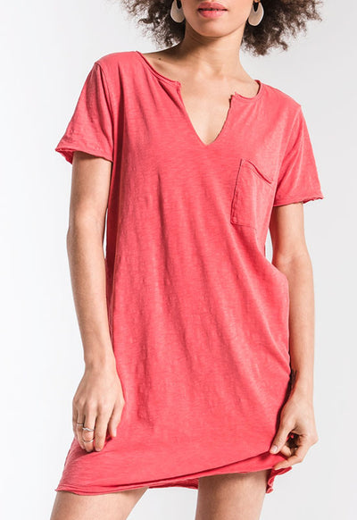 Z Supply - The Paige Sugar Coral T Shirt Dress