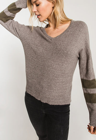 Rag Poets - Light Grey Wyckoff Sweater