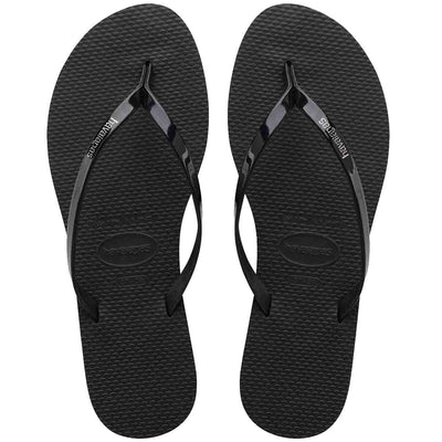 Havaianas You Metallic - Black Metallic EVA Flip-Flop