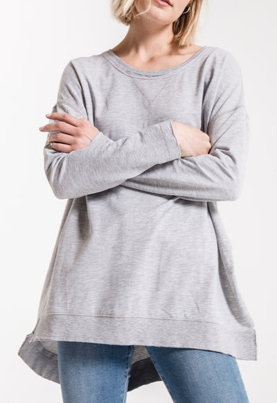 Z Supply - The Weekender Heather Grey Top