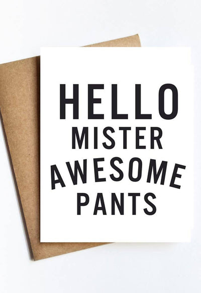 LIVE LOVE STUDI MISTER-AWESOME-PANTS BEST DAY EVER CARD - MISTER-AWESOME-PANTS-LIVE LOVE STUDI