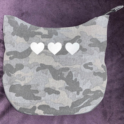 Quilted Koala - Mini City Bag Camo with Three Micro Hearts
