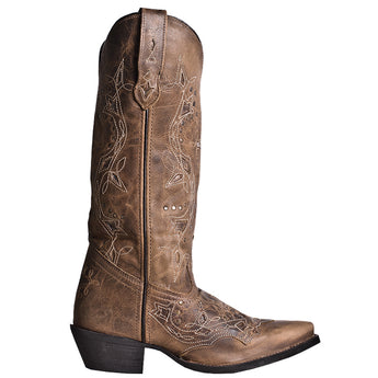 Laredo Western Tan- Brown Knee-High Boot