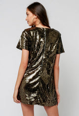 Kixters - Black Shimmer Mini Dress