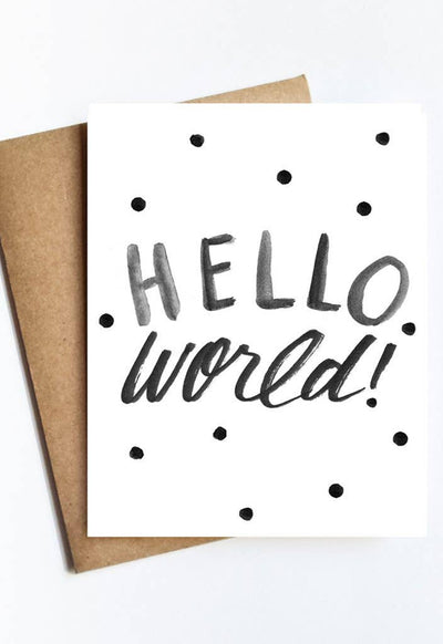 LIVE LOVE STUDI HELLO-WORLD HELLO WORLD CARD - HELLO-WORLD-LIVE LOVE STUDI