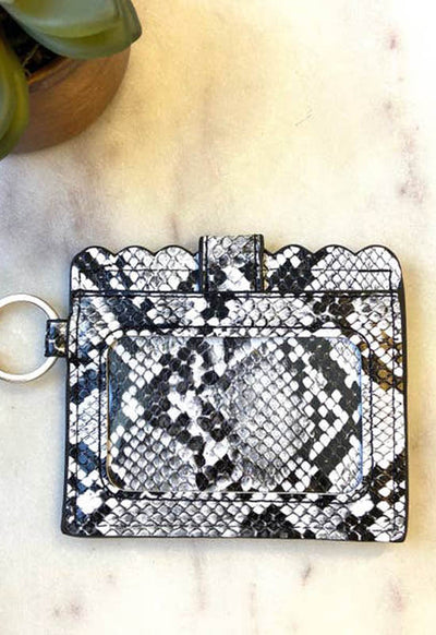 Kixters - White Multi Snake Print Card Holder