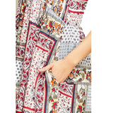 Red Print Patchwork Dress