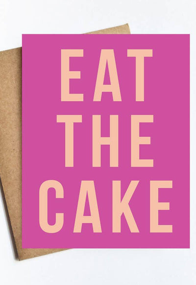 LIVE LOVE STUDI EAT-THE-CAKE EAT-THE-CAKE-CARD - EAT-THE-CAKE-LIVE LOVE STUDI