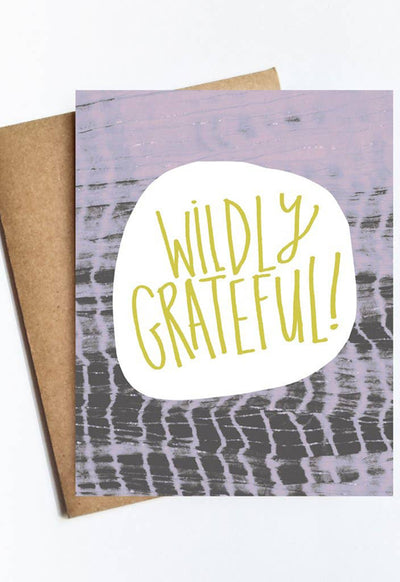 LIVE LOVE STUDI WILDLY-GRATEFUL WILDLY GRATEFUL CARD - WILDLY-GRATEFUL-LIVE LOVE STUDI