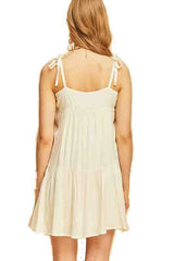 Natural Spaghetti Strap Sundress