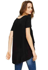Kixters - Black Side Tie Long Shirt