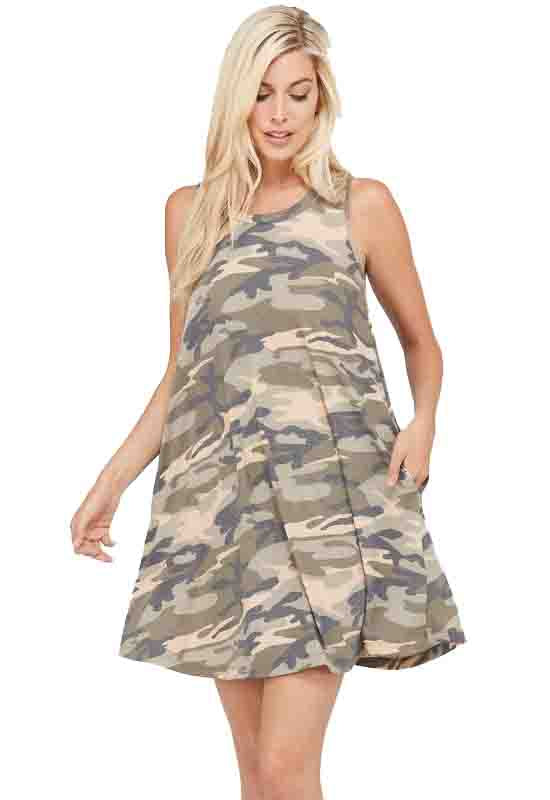 Kixters Sleeveless Camo Sundress