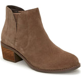 Me Too Zetti - Nutmeg Suede Dual Gore Pull-On Low Block Heel Bootie