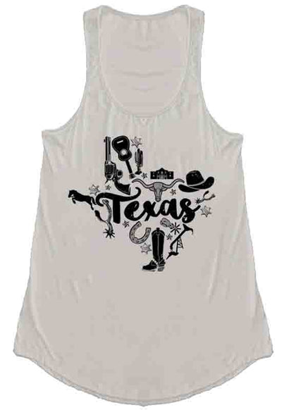 Kixters - Taupe Texas A-Line Graphic Tank Top