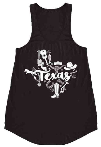 Kixters - Black Texas A-Line Graphic Tank Top